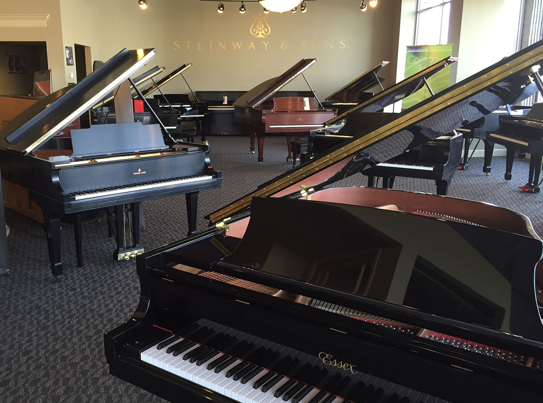 West Michigan Piano showroom